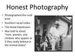 honest photography