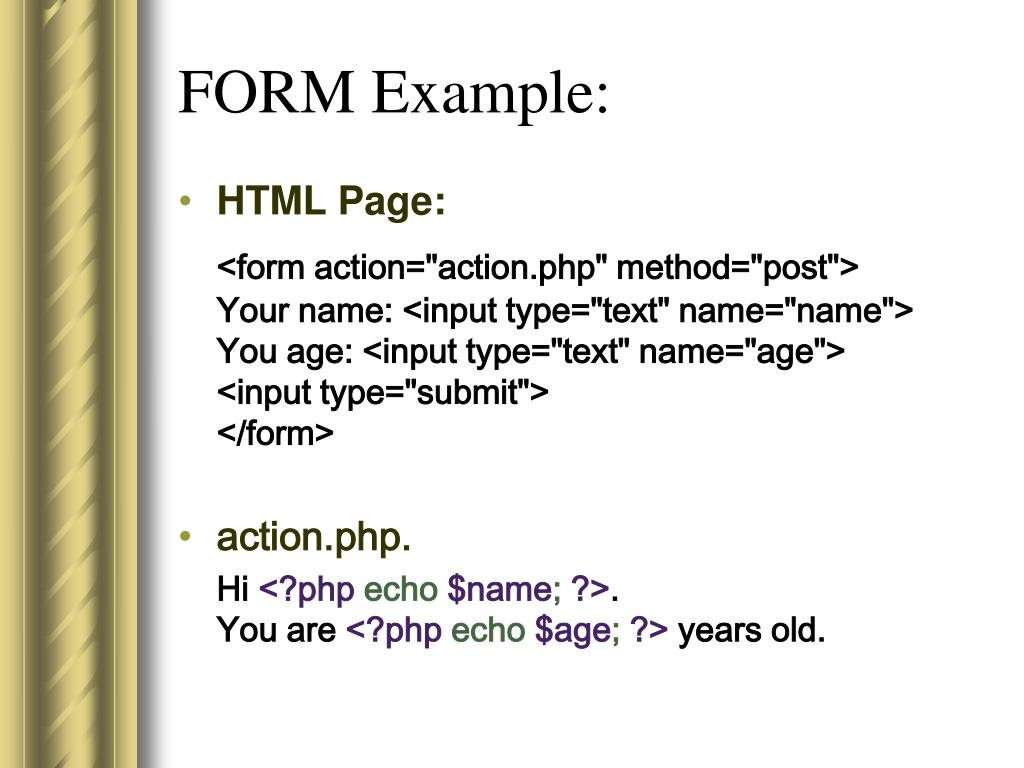 FORM Example: