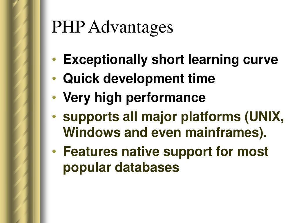 PHP Advantages
