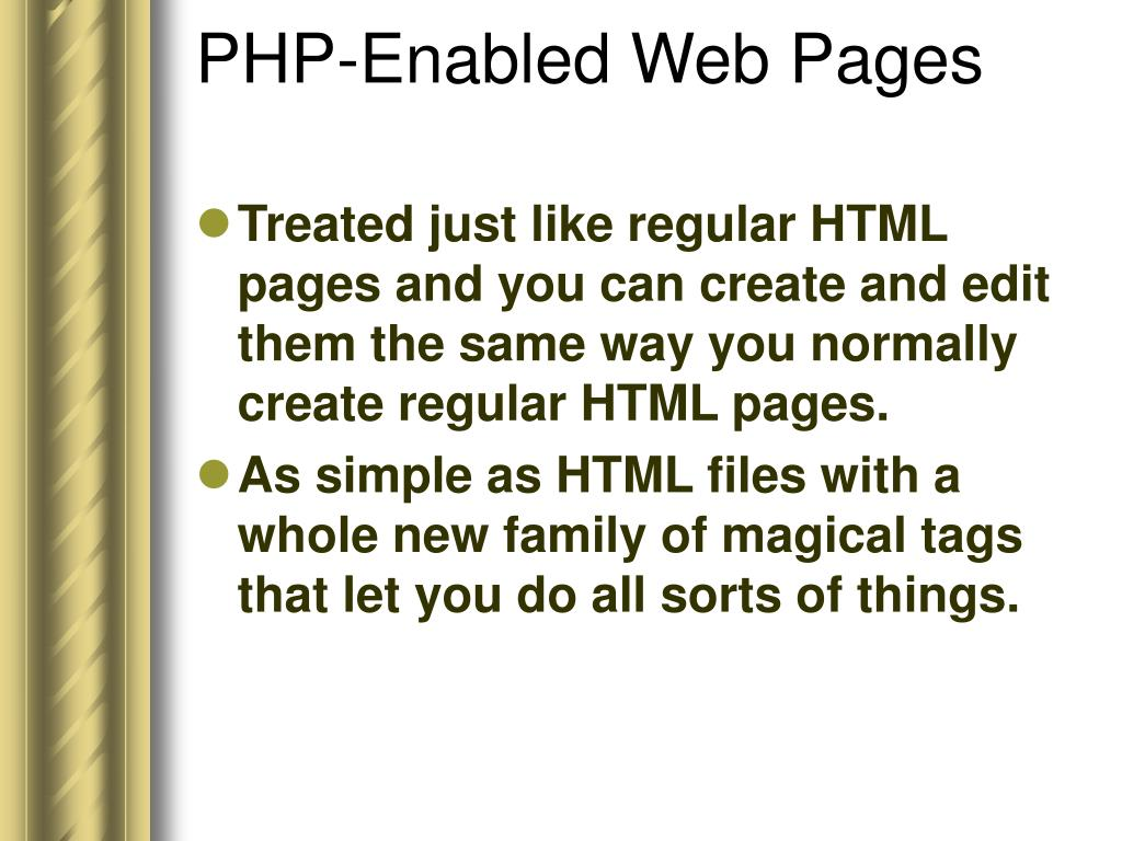 PHP-Enabled Web Pages