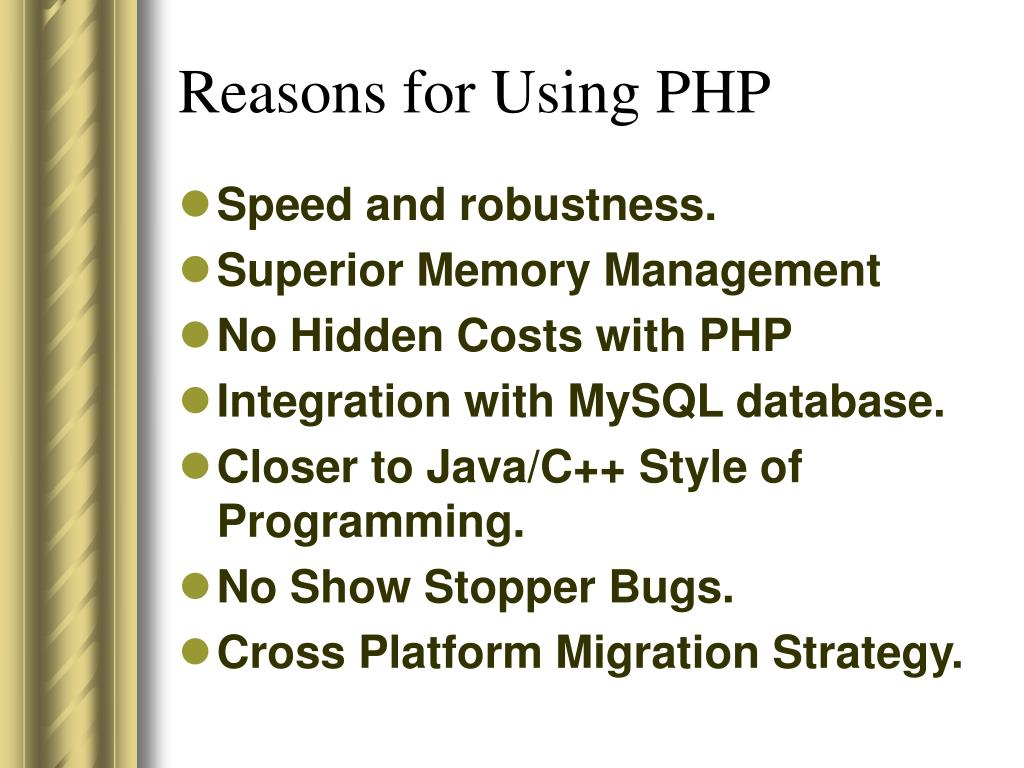 Reasons for Using PHP