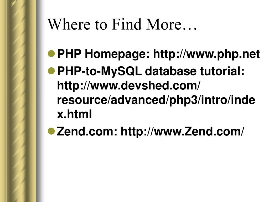 Where to Find More…