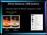 white balance wb button11