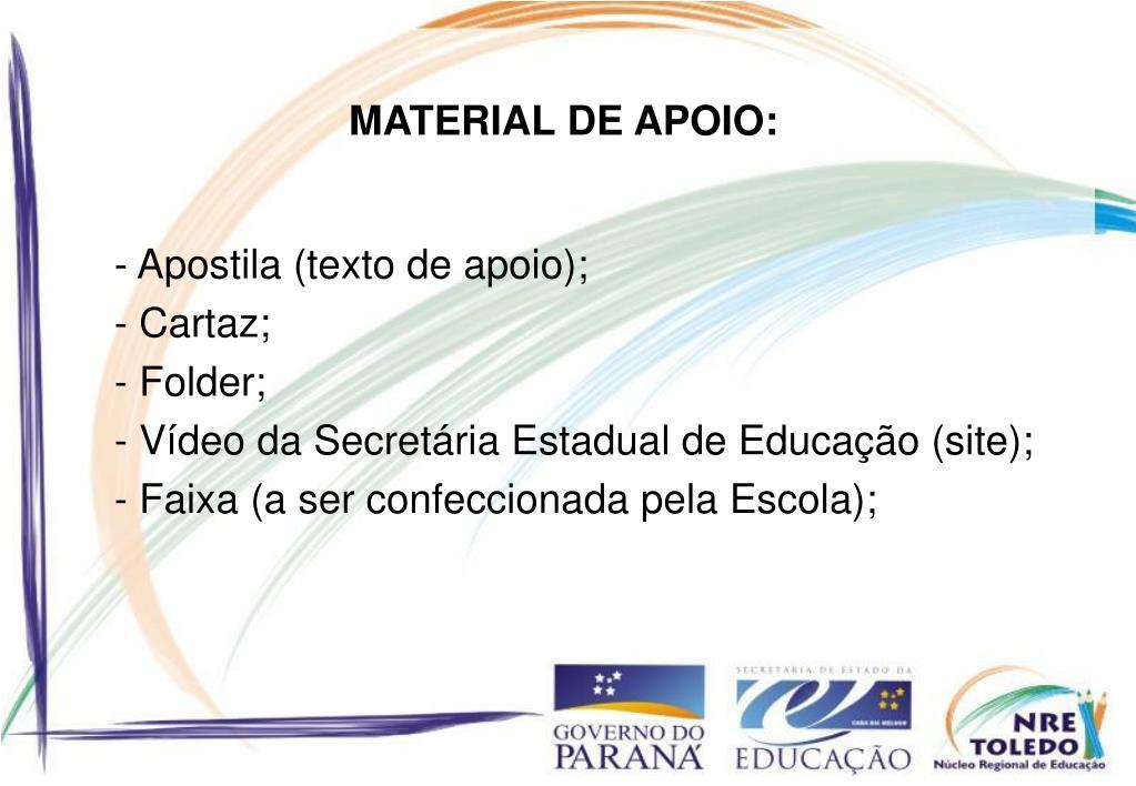 MATERIAL DE APOIO: