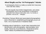 alfred stieglitz and the art photography debate