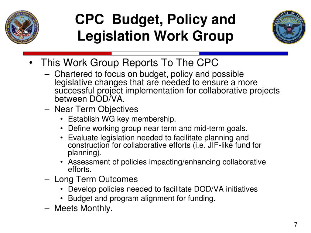 CPC  Budget, Policy and Legislation Work Group
