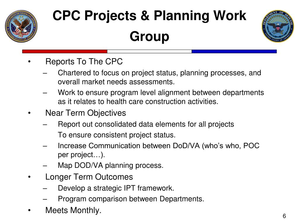 CPC Projects & Planning Work Group