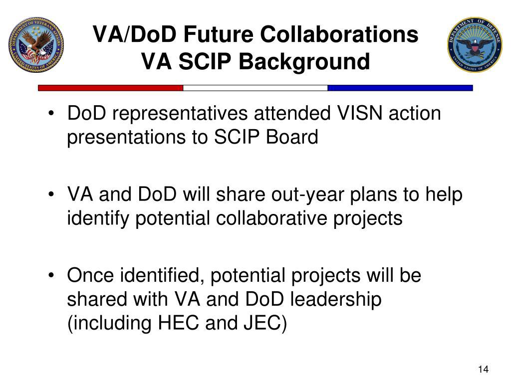 VA/DoD Future Collaborations