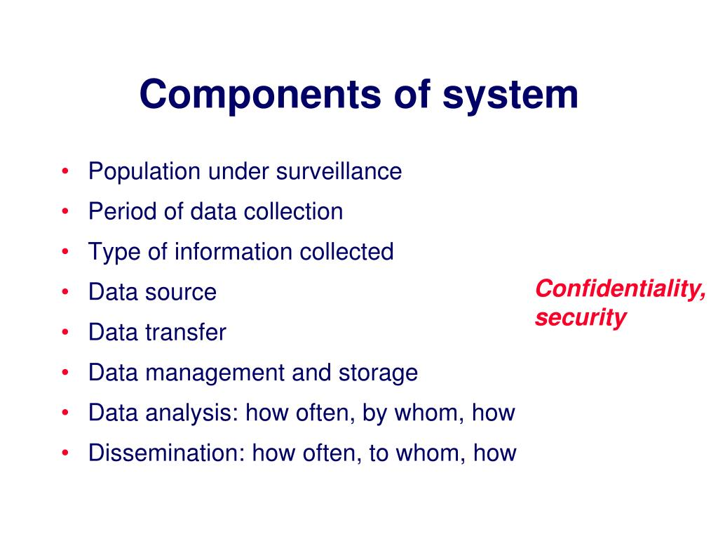 Components of system