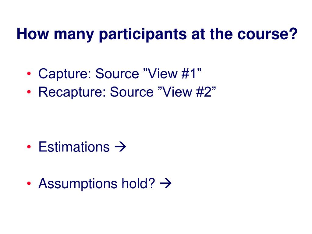 How many participants at the course?