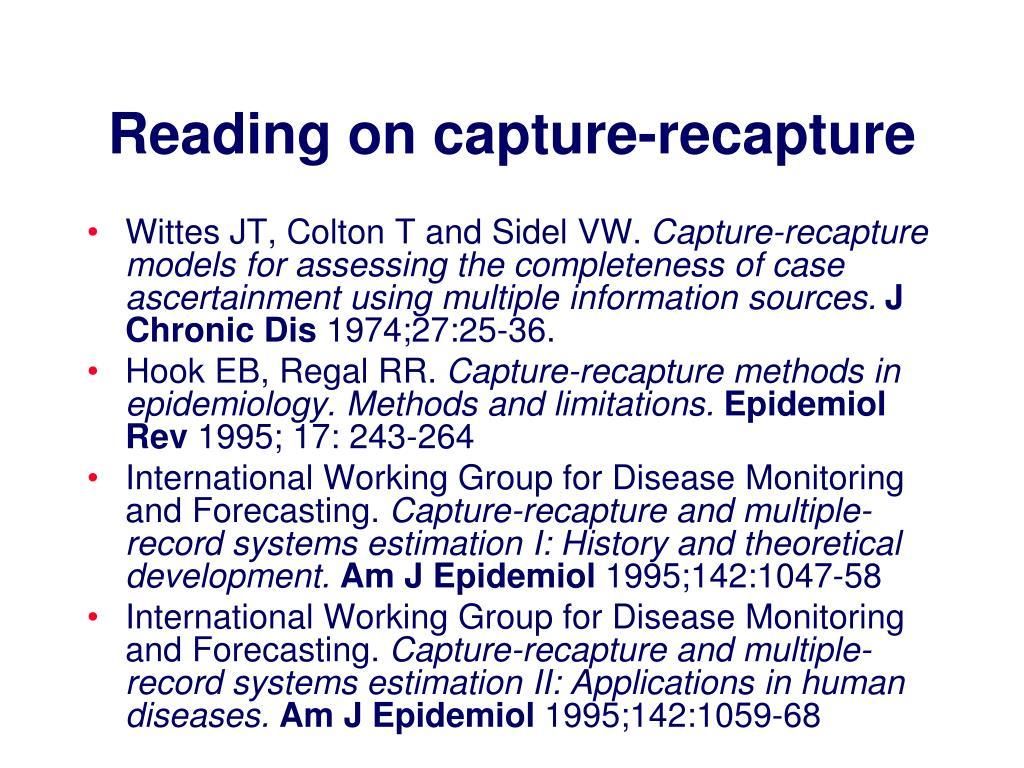 Reading on capture-recapture