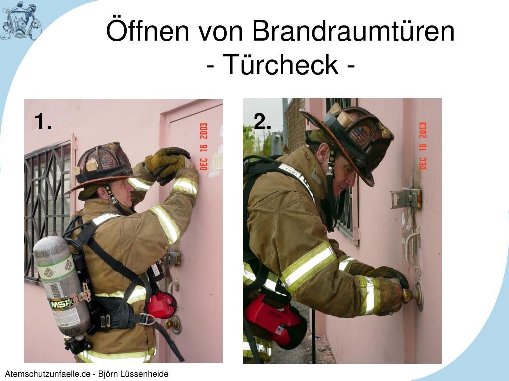 Öffnen von Brandraumtüren