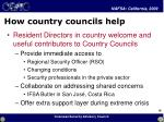 how country councils help
