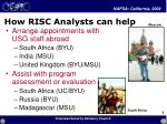how risc analysts can help