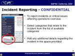 incident reporting confidential
