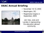 osac annual briefing