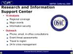 research and information support center