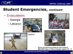 student emergencies continued23