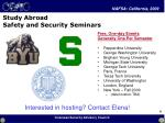 study abroad safety and security seminars