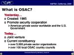 what is osac