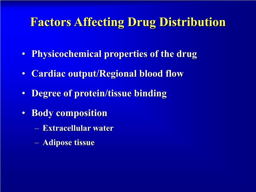 Factors Affecting Drug Distribution