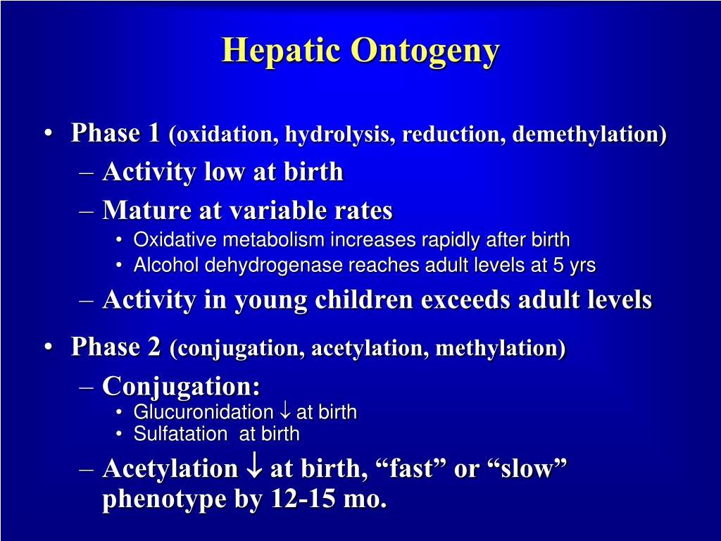 Hepatic Ontogeny