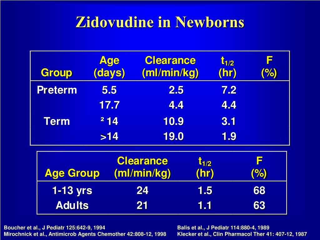 Zidovudine in Newborns