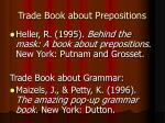 trade book about prepositions