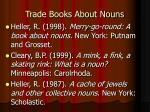 trade books about nouns