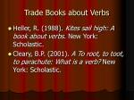 trade books about verbs