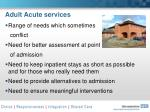 adult acute services