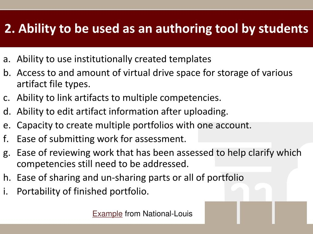 2. Ability to be used as an authoring tool by students