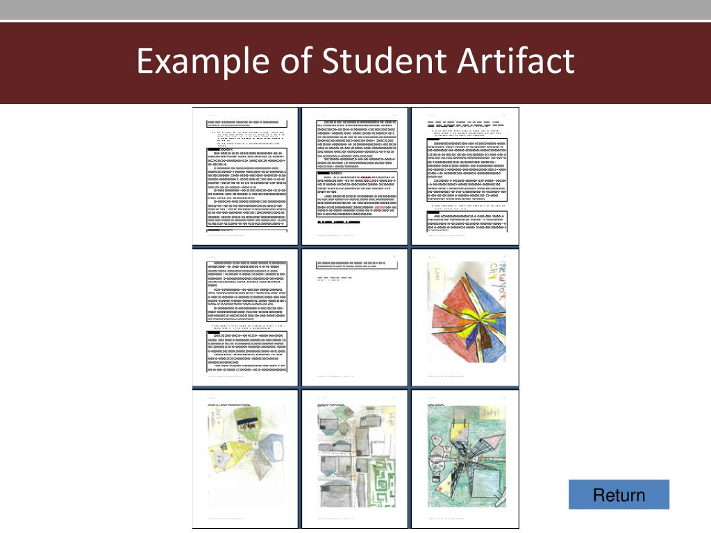 Example of Student Artifact