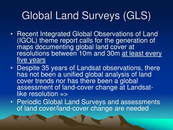 Global land surveys gls