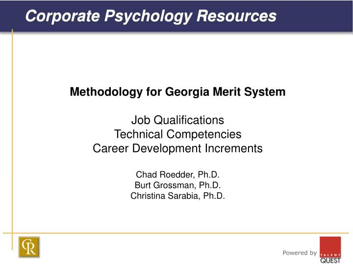 Corporate psychology resources