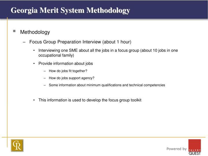 Georgia merit system methodology3