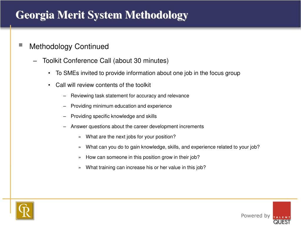 Georgia Merit System Methodology