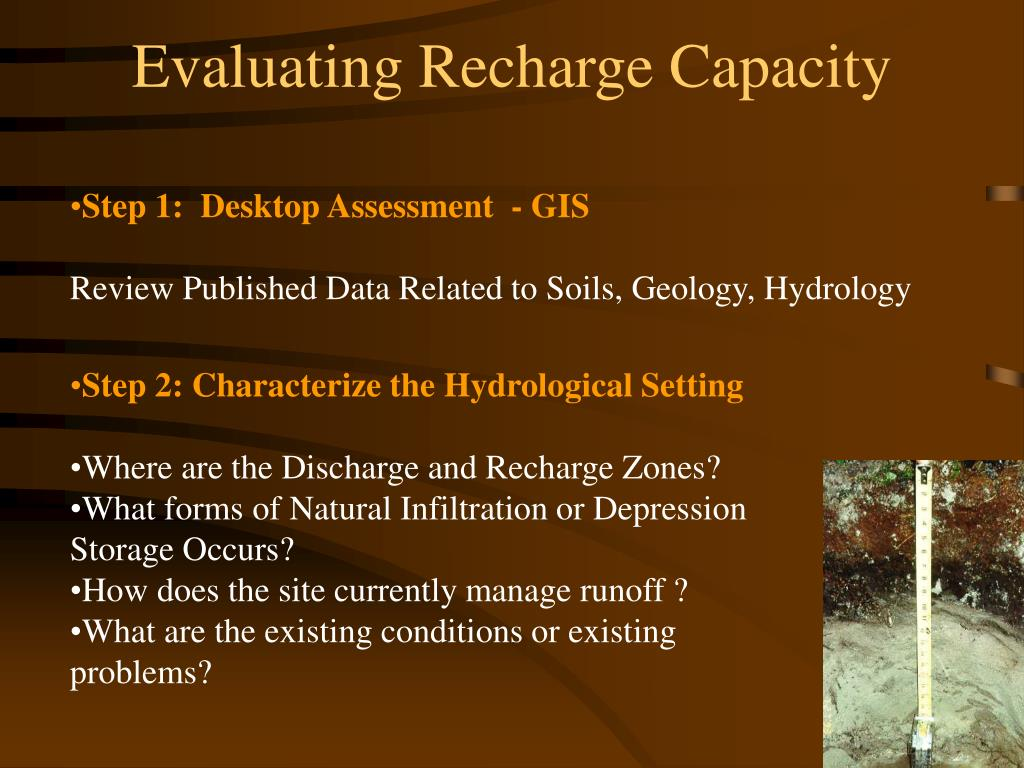 Evaluating Recharge Capacity
