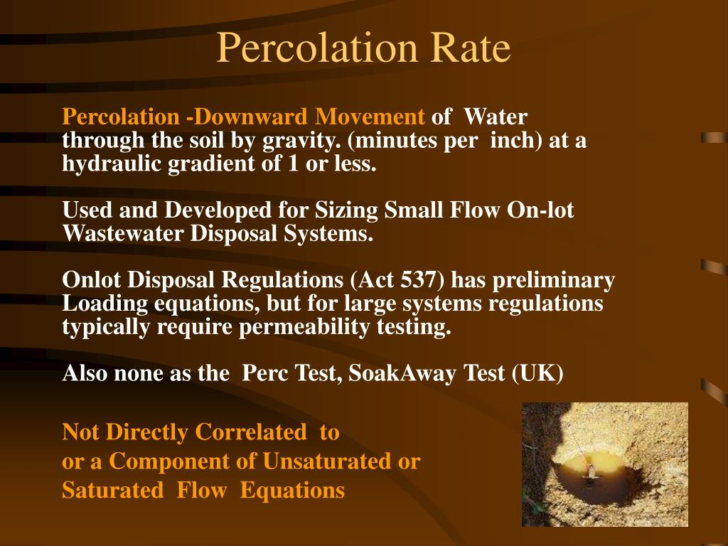 Percolation Rate