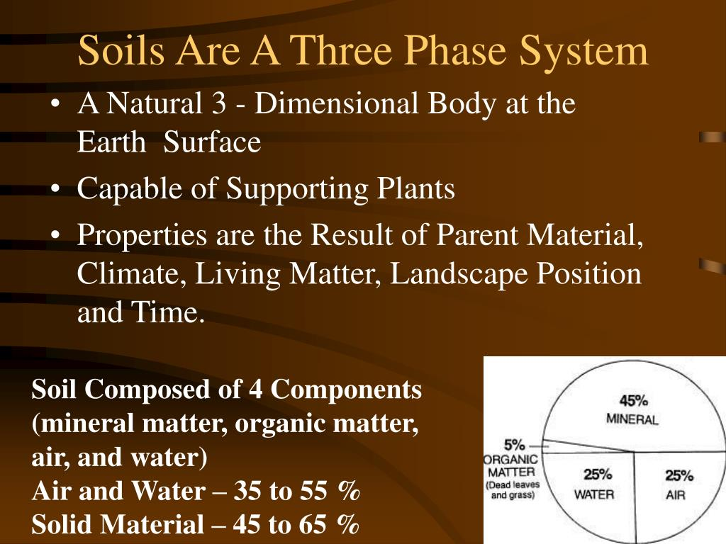 Soils Are A Three Phase System