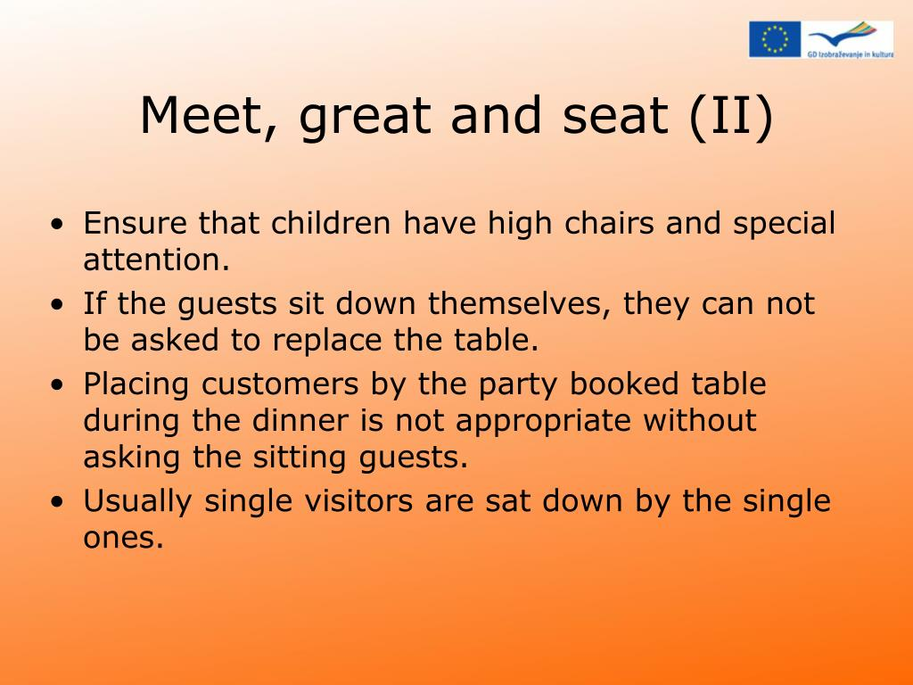 Meet, great and seat (II)