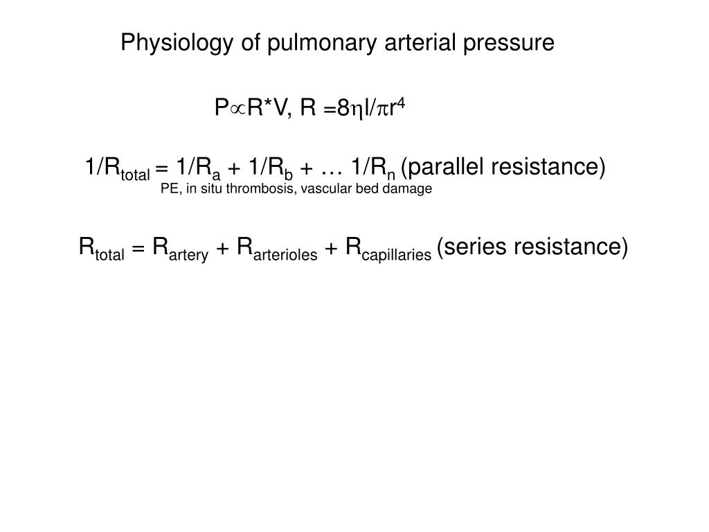 Physiology of pulmonary arterial pressure