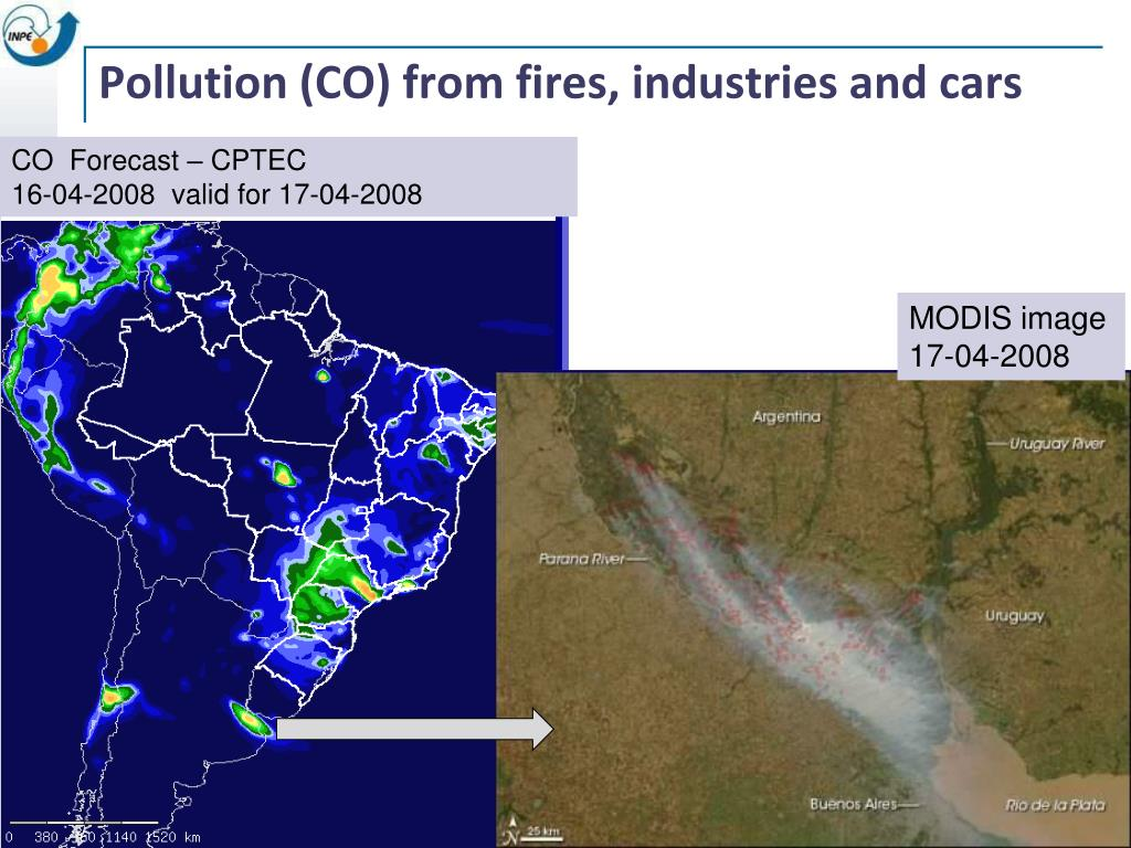 Pollution (CO) from fires, industries and cars