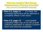 what the cumbria wind energy supplementary planning document says about cumulative impact