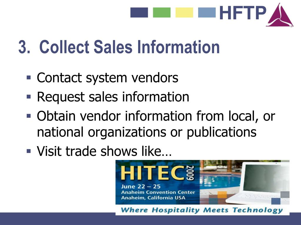 3.  Collect Sales Information