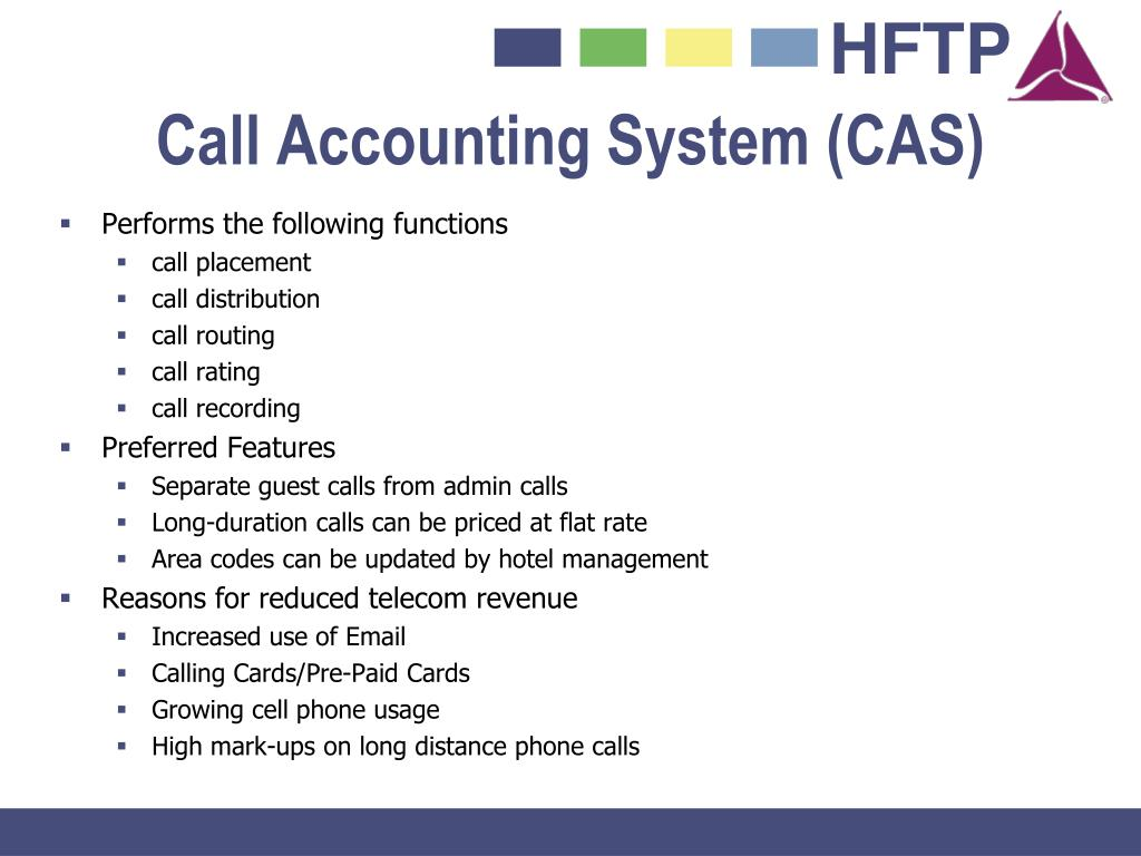 Call Accounting System (CAS)