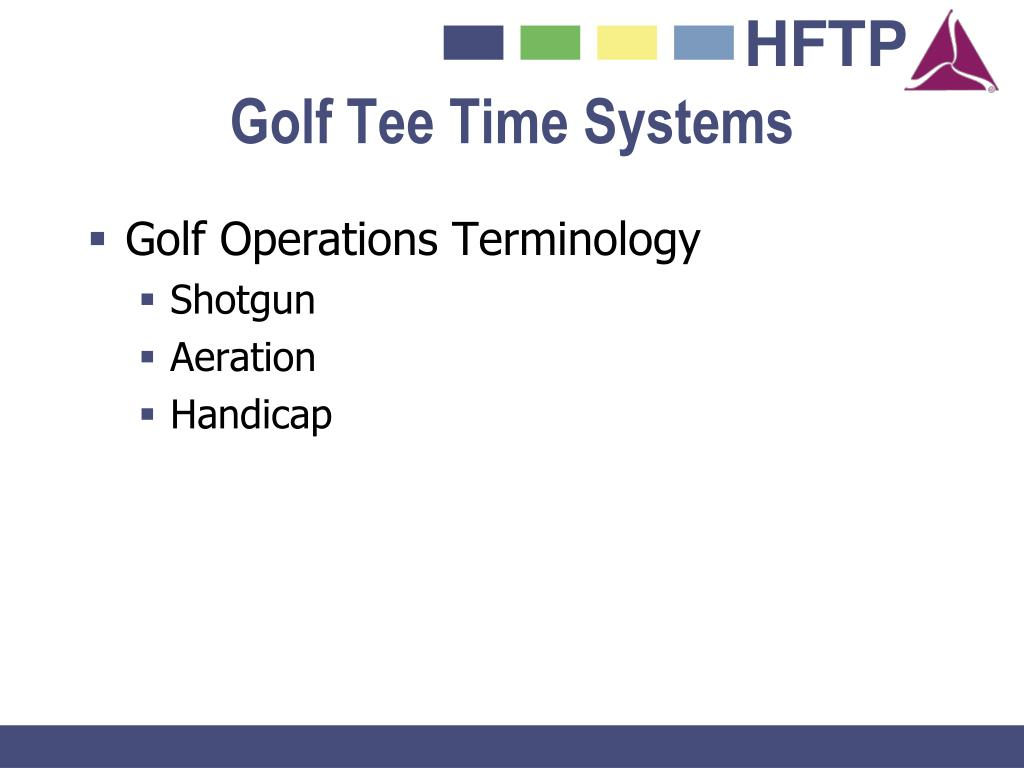 Golf Tee Time Systems
