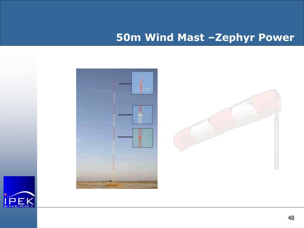 50m Wind Mast –Zephyr Power