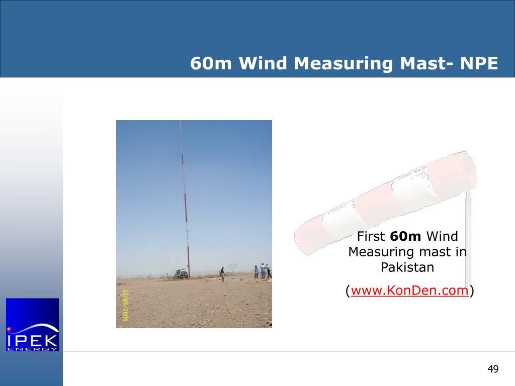 60m Wind Measuring Mast- NPE