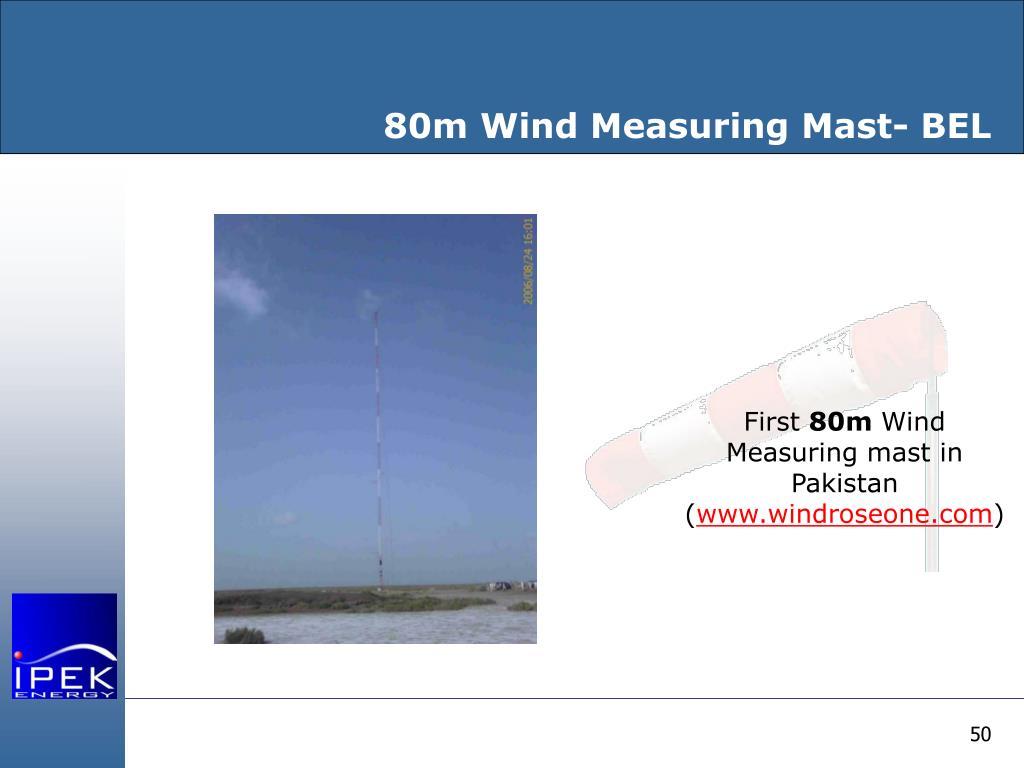 80m Wind Measuring Mast- BEL